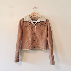 BB Dakota brown corduroy jacket fleece small